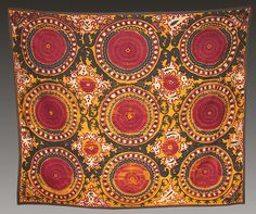antique suzani from uzbekistan