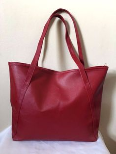Fashion Womens Wine Red Faux Leather Satchel Tote Bag Shoulder Purse     eBay