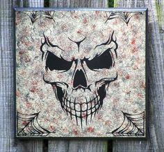 Sign Demon Skull Gothic Primitive Spider Webs.
