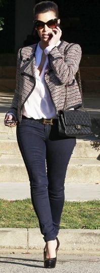 Jacket - Elizabeth And James Purse - Chanel Jeans - Bleulab Belt - Hermes Shoes - Yves Saint Laurent Piperlime Intermix