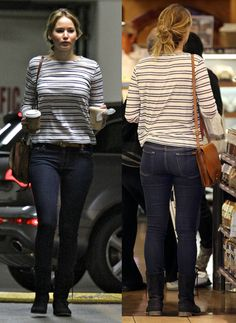 Jennifer Lawrence Jeans Front & Behind