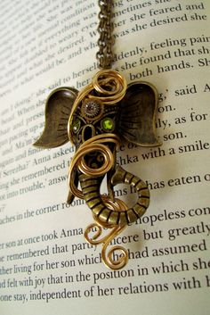 Steampunk Necklace N1532  Ganesha Tribute by DesignsByFriston, $29.00