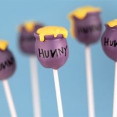 Honey Pot Cake Pops for a Winnie the Pooh Party