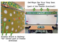 putting words in your mouth: OWL themed speech room