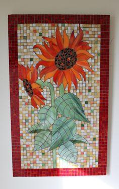 Glass Mosaic Sunflowers Panel by Bill Blazak of Glassarts Studio, Exton PA