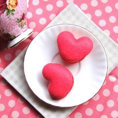 Rose Heart Macaron