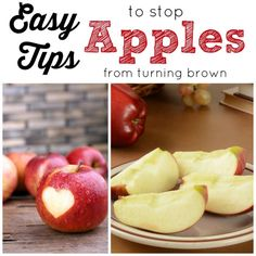 Stop your apples from turning brown, plus make them sliced and ready for snacking with these easy tricks!