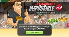 It's not too late to cook with Chef Robert Irvine! Log on to Zynga's new game #ChefVille and the world-famous chef will be giving you cooking advice and recipe pointers in no time!