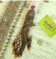 Kashee's Mehndi Designs, Stylish Mehndi Designs, Wedding Mehndi Designs, Henna Designs Easy, Beautiful Henna Designs, Mehndi Designs For Hands, Kashees Mehndi, Mehndi Dress, Arabic Henna