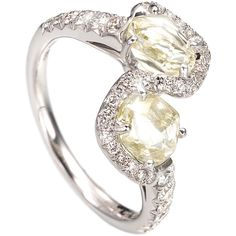 Diamond in the Rough Champagne Bubbles Ring ($9,100) ❤ liked on Polyvore