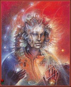 Fantasy Art Photo: Art by Susan Seddon Boulet Fantasy Kunst, Fantasy Art, Fantasy Dragon, Spirit Art, Spirit Magic, Art Visionnaire, Jaguar, Ancient Goddesses, Photo D Art