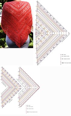 Best 11 Japonese shawl met colortwist garen We are want to say thanks if you like to share this post to another people – SkillOfKing.Com - Her Crochet Poncho Au Crochet, Crochet Shawl Diagram, Crochet Shawls And Wraps, Crochet Chart, Crochet Scarves, Crochet Clothes, Crochet Stitches, Shawl Patterns, Crochet Patterns