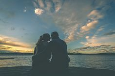 Fall engagement picture at sunset by Muskoka wedding photographer www.vaughnbarry.com Vaughn Barry Photography