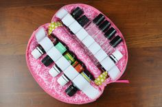 Large Essential Oil Case  Essential Oil Bag by needlebeandesigns