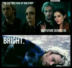 """""""On The First Page Of Our Story The Future Seemed So Bright."""" Marvel xBlueAvenue <--- This one is so sad!!!"""