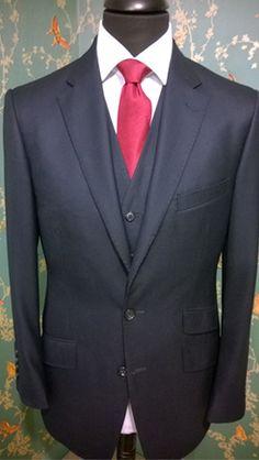Bespoke 3pc suit for client