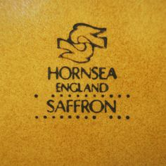 Hornsea / Saffron / John Clappison / 1970 to 1992 / storage jars and lids / Pottery Mark / Kitsch n ware
