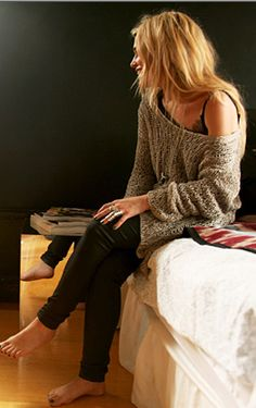big sweaters... and leggins...SO comfy!