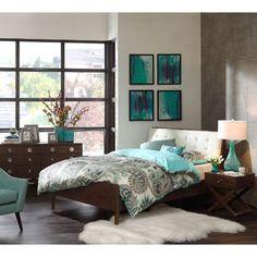 Ink+Ivy Cosmo Pecan 6-Piece King Mid-Century Modern Bedroom Set