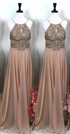 Gorgeous A-line Long Prom Dress with Side Slit, Elegant Evening Dress With Spaghetti Straps Peach Prom Dresses, Grad Dresses Short, Senior Prom Dresses, Princess Prom Dresses, Elegant Prom Dresses, Evening Dresses, Bridesmaid Dresses, Formal Dresses, Graduation Dresses