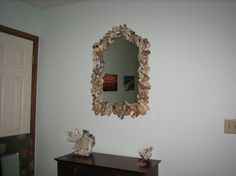 Hand made Oyster Shell Mirror. Brings the by BRYANTCRAFTWORKS