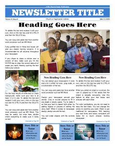 church newsletter sampels | Evangelical & Christian Church ...