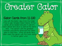 Here's a set of alligator-themed materials for comparing numbers.