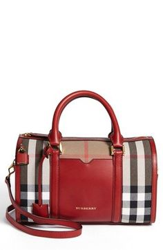 Red Burberry satchel