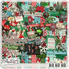 Ho Ho Ho by Bella Gypsy Designs!  Grab this awesome kit while it's 20% off through next week, Nov 27th - you'll also receive the coordinating add-on for free during the same time period! #bellagypsy #christmas
