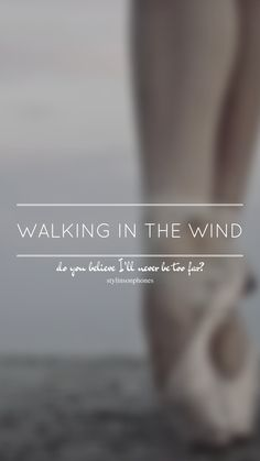 Walking In The Wind // One Direction // ctto: @stylinsonphones (on Twitter)