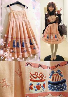 ☆ Emiy Temple Cute closet print JSK
