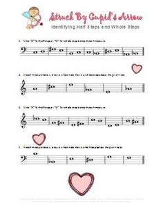 Valentines Day Music Worksheets