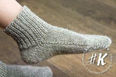 Носки на 2 спицах без шва для начинающих. Фото и видео мастер-класс по вязанию