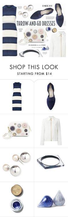 """""""Easy Outfitting: Throw-and-Go Dresses"""" by katarina-blagojevic ❤ liked on Polyvore featuring Eileen Fisher, Isaac Mizrahi, Lanvin, Yoko London, Alexis Bittar, Bobbi Brown Cosmetics and dress"""