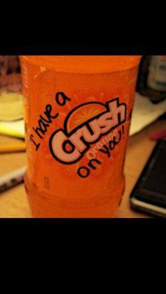 Creative way of telling me he liked me. Awe!