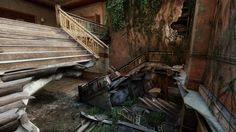 ArtStation - The Last of Us, Jonathan T Schmidt & Jose Vega Schmidt, Concept Art, Stairs, 3d, Environment, Ladders, Conceptual Art, Stairway, Staircases