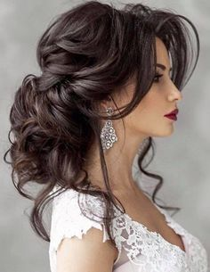 Featured Hairstyle: Elstile; Wedding hairstyle idea.