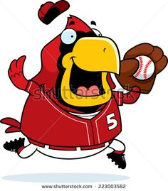 Clip art of cardinal mascot showing teeth by Graphics Factory ...