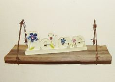 Barn Wood and Barb Wire Shelf 15 x 5 in. primitive rustic country wall decor
