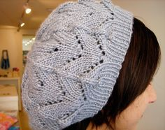 Grace Lace Beret - a knitting project for Katie and I - we're both making one!  I substituted the Swing Needle Cast On and a regular K1P1 rib for the cast on and ribbing shown in the pattern - much easier.