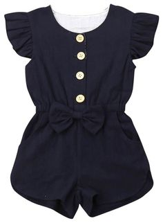 Ruffle Bow Romper - Kids and Parenting Baby Outfits, Little Girl Outfits, Kids Outfits Girls, Baby Girl Dresses, Toddler Outfits, Baby Girl Fashion, Toddler Fashion, Kids Fashion, Organic Baby Clothes