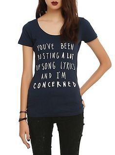 You've Been Posting A Lot Of Song Lyrics Girls T-Shirt, NAVY