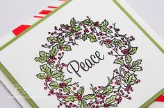 Stampin' Up! UK Feeling Crafty - Bekka Prideaux Stampin' Up! UK Independent Demonstrator: Peaceful Wreath Fast and Fabulous Christmas Card