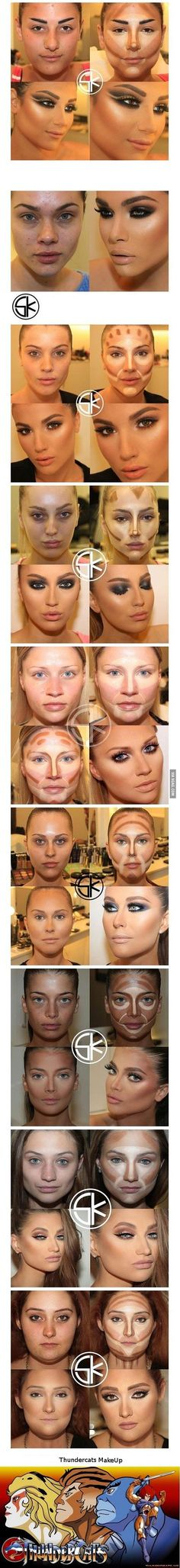 Oh wow, this is a dramatic difference, these before and after make-up transformation. I heard stories of Men taking their Wives to court over make-up sorcery. Face Contouring, Contour Makeup, Contouring And Highlighting, Skin Makeup, All Things Beauty, Beauty Make Up, Hair Beauty, Love Makeup, Makeup Looks