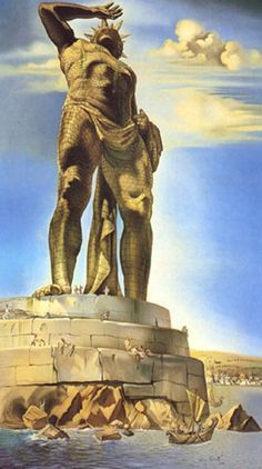 Salvador Dali - The Colossus of Rhodes Oil on canvas - 1954 - Private collection