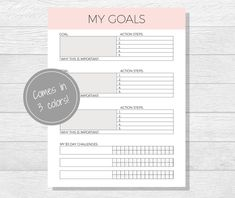 A Goal Without A Plan Is Just A Wish  Goal Setting Worksheet