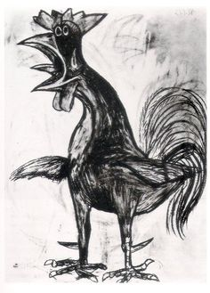 Gallo by Pablo Picasso (1938).