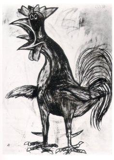 Gallo by Pablo Picasso (1938).