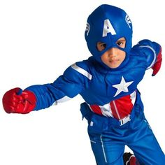 Disney Store Deluxe Marvel Captain America Avengers Costume S Small 5 - 6 2014 Marvel Costumes, Boy Costumes, Diy Halloween Costumes, Scary Halloween, Halloween Party, Captain America Costume, Marvel Captain America, Disney Dress Up, Superhero Birthday Party