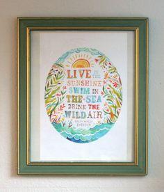 Finally framed my Katie Daisy print! Love it!